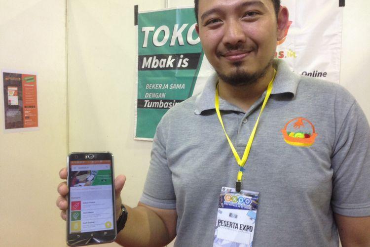 Aplikasi Tumbas.in diciptakan untuk memfasilitasi transaksi di Pasar Tradisional secara online, Sabtu (7/10/2017).