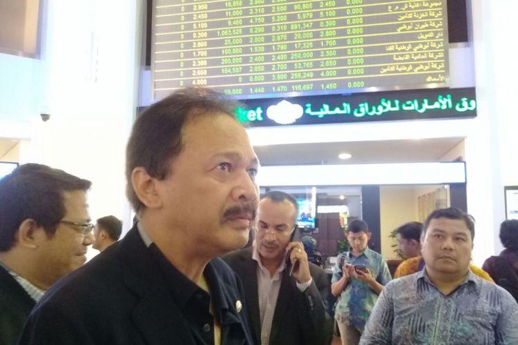 Dirut BEI Tito Sulistio berkunjung di Dubai Financial Market (DFM) di Dubai, Uni Emirat Arab (UEA) pada Minggu (29/10/2017)