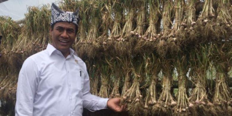 Menteri Pertanian Andi Amran Sulaiman yang pada tahun 2017 sukses menyelenggarakan program menuju swasembada bawang putih