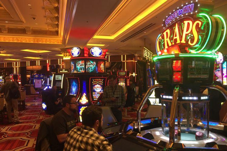 Wahana kasino di Hotel The Venetian, Las Vegas, Nevada, Amerika Serikat. Gambar diambil pada Senin (27/11/2017) waktu setempat atau Selasa (28/11/2017) WIB.