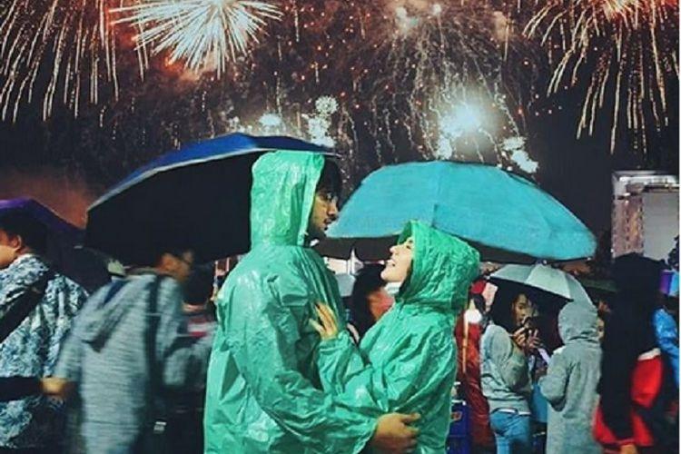 Ammar Zoni dan Irish Bella menghabiskan malam pergantian tahun bersama.