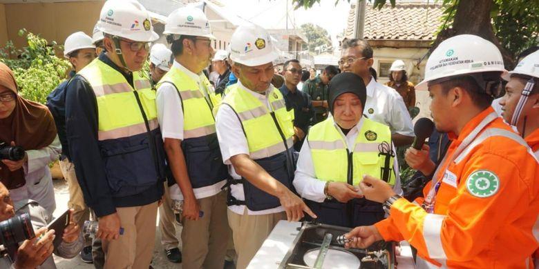 PGN membangun Jaringan Gas dari Kementerian Energi dan Sumber Daya Mineral (Kementerian ESDM) di Pasuruan ke Probolinggo, Jawa Timur.