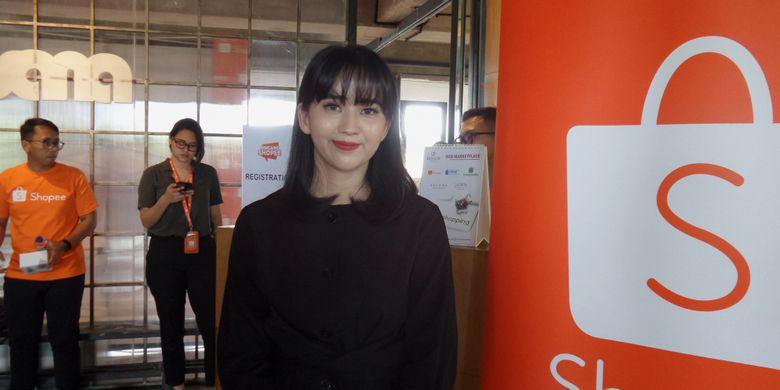 Fashion influencer sekaligus k-pop enthusiast, Sasyachi dalam acara BincangShopee di kawasan Cipete, Jakarta Selatan, Kamis (17/1/2019).
