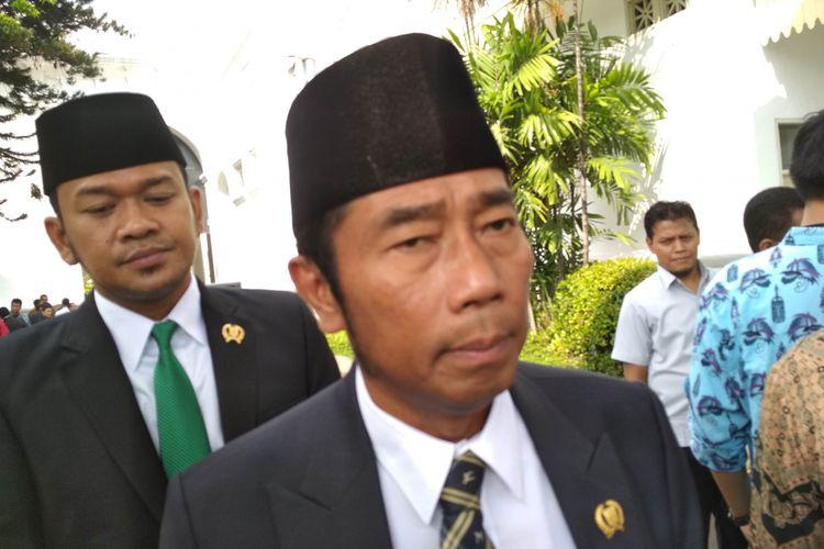 Wakil Ketua DPRD DKI Abraham Lunggana di Istana, Kamis (15/6/2017).