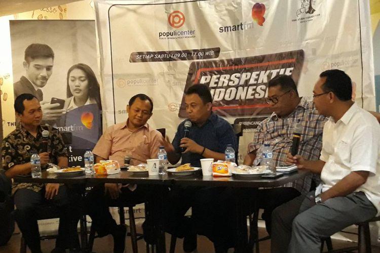 Diskusi Perlukah Membentuk Badan Legislasi Pemerintah di kawasan Menteng, Jakarta Pusat, Sabtu (8/12/2018).