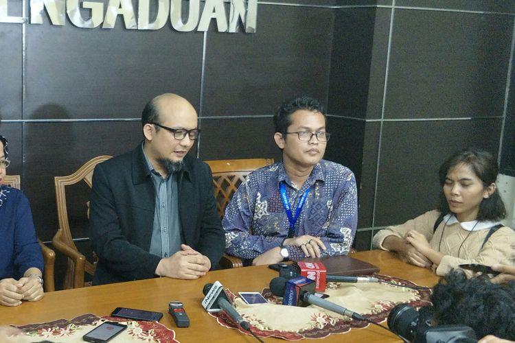 Penyidik senior Komisi Pemberantasan Korupsi (KPK) Novel Baswedan memenuhi panggilan Komisi Nasional Hak Azasi Manusia (Komnas HAM), Salasa (13/3/2018).