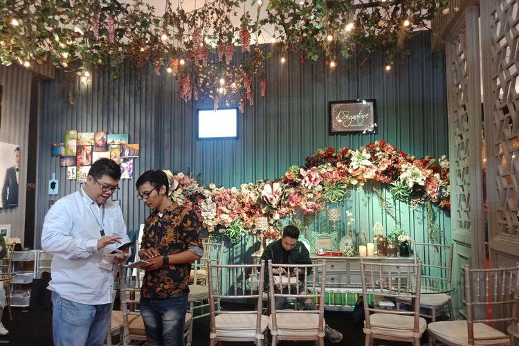 Sebanyak 20 kategori vendor tersedia pada gelaran Indonesia Dream Wedding Festival di JCC Senayan, Jakarta Pusat, Jumat (25/1/2019).
