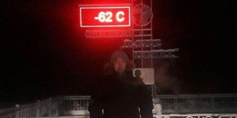 Termometer di Oymyakon, Rusia berhenti bekerja tak lama setelah suhu mencapai -62C