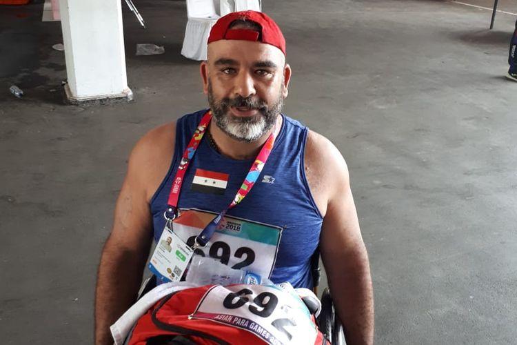 Atlet tolak peluru putra F55 asal Suriah, Alrezk Wasim.