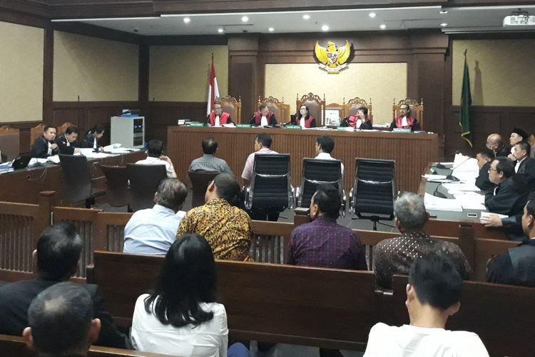 Sidang untuk terdakwa Bupati Lampung Tengah Mustafa di Pengadilan Tipikor Jakarta, Kamis (17/5/2018).