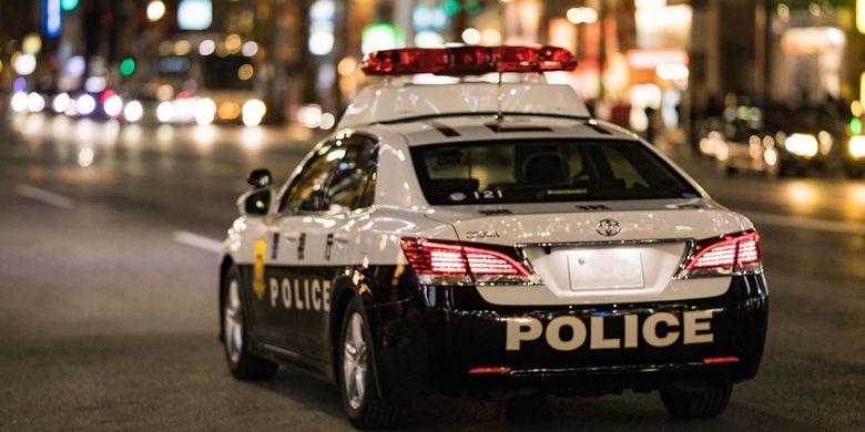Ilustrasi mobil polisi.