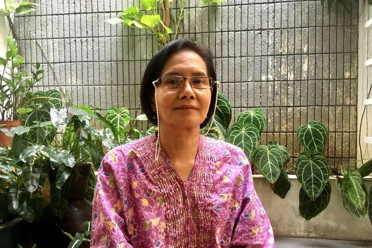 Susana (62), mantan pengidap kanker payudara stadium tiga yang berhasil sembuh lantaran semangat dan keyakinannya.