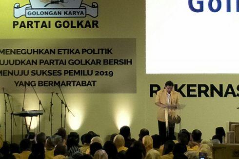 Gelar Rakernas, Ketum Golkar Bantah Bahas Cawapres Jokowi
