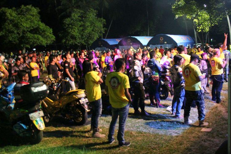 Yamaha NMAX Club Indonesia (YNCI) menggelar kumpul akbar nasional ke-3 di Pantai Senggigi, Lombok, Nusa Tenggara Barat.