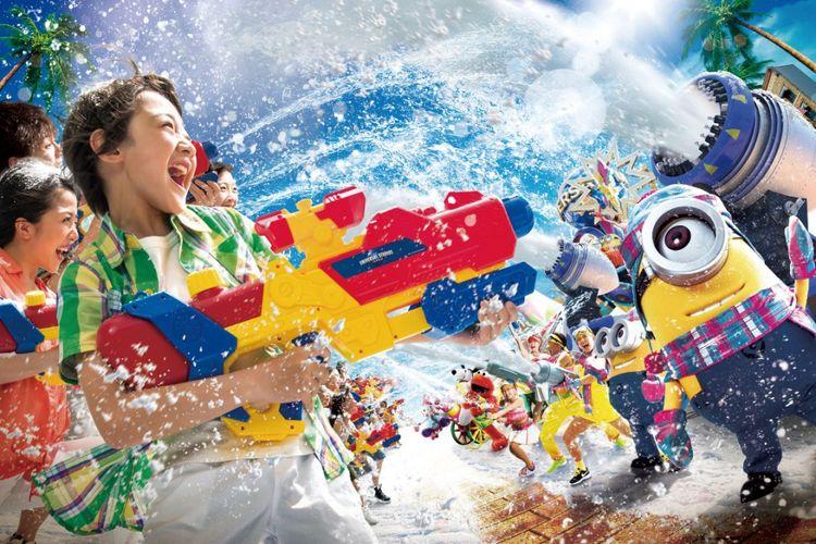 Universal Summer Festival dengan Snow Entertainment yang skalanya sudah diperbesar. Seluruh badan yang basah akan menghilangkan rasa gerah saat musim panas