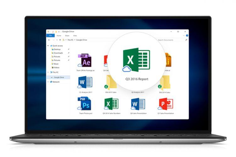 Ilustrasi aplikasi Drive File Stream