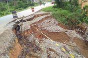 Longsor, Jalan Penghubung Antar-kabupaten di Sanggau Terancam Putus
