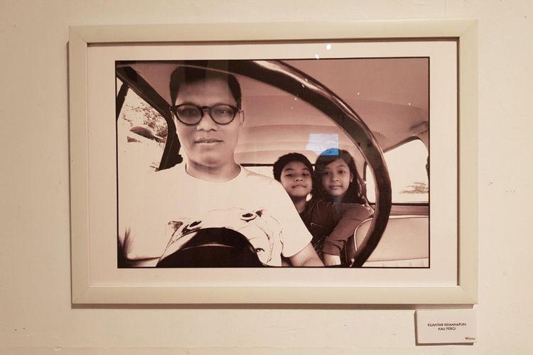 Salah satu koleksi di pameran foto Ini Ayah Hebatku di Bentara Budaya Jakarta, Selasa (21/11/2017).