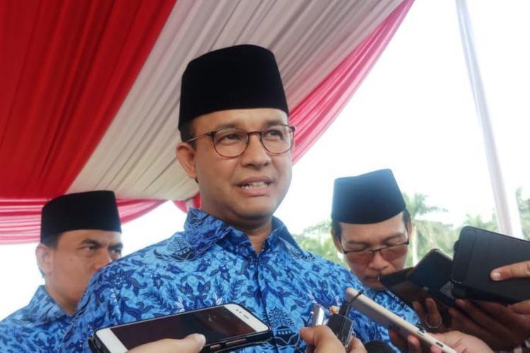 Gubernur DKI Jakarta Anies Baswedan di Monas, Gambir, Jakarta Pusat, Sabtu (1/6/2019)