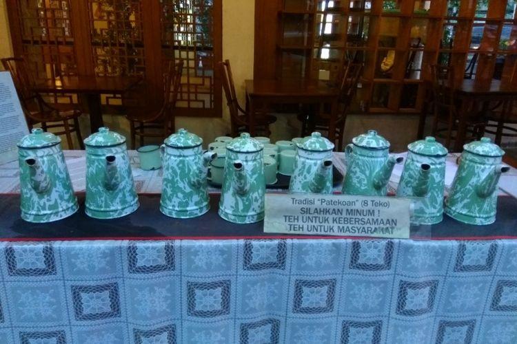 Pantjoran Tea House di Glodok, Jakarta Barat menyediakan teh gratis setiap hari.