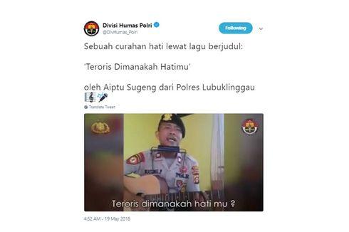 Polisi yang Viral Nyanyikan Lagu soal Teroris Pernah Jadi Pengamen dan Penyemir Sepatu