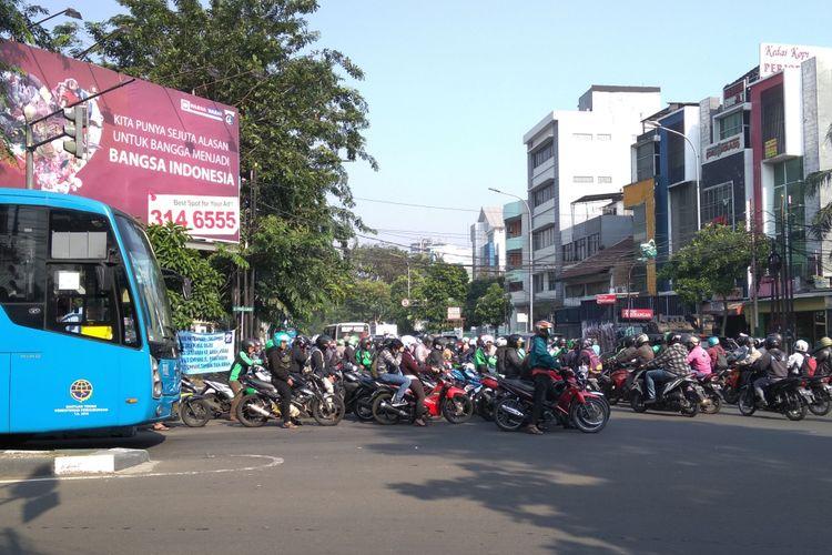 Situasi lalin di Simpang Tambak sudah normal dibandingkan kemarin, Rabu (11/4/2018)