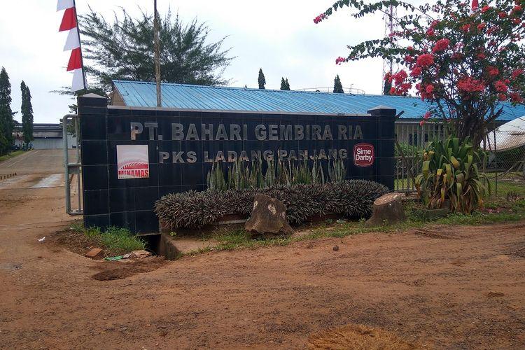 Lokasi area perkebunan anak usaha Minamas Plantation, PT Bahari Gembira Ria di Kabupaten Muaro Jambi, Provinsi Jambi.