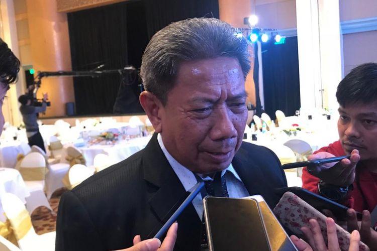 Ketua Muda Pidana Mahkamah Agung (MA) Suhadi saat ditemui usai sebuah acara di Hotel Grand Hyatt, Jakarta Pusat, Rabu (28/11/2018).