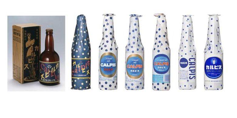 Desain kemasan minuman diubah dari waktu ke waktu dalam 100 tahun.
