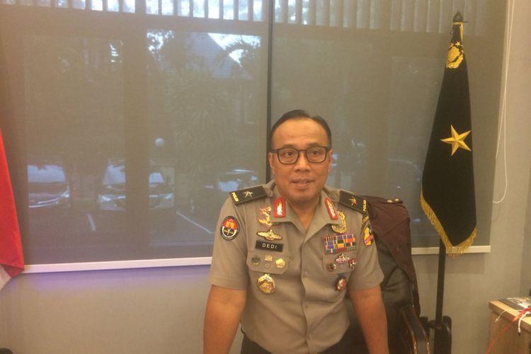Kepala Biro Penerangan Masyarakat Divisi Humas Polri Brigjen (Pol) Dedi Prasetyo di Gedung Humas Mabes Polri, Jakarta Selatan, Rabu (28/11/2018).