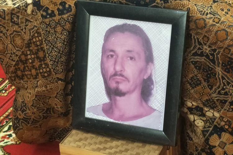 Jenazah Rudy Wowor disemayamkan di rumah duka di Perumahan Pesona Kahyangan Blok DC, Depok, Jawa Barat, Jumat (5/10/2018) siang.