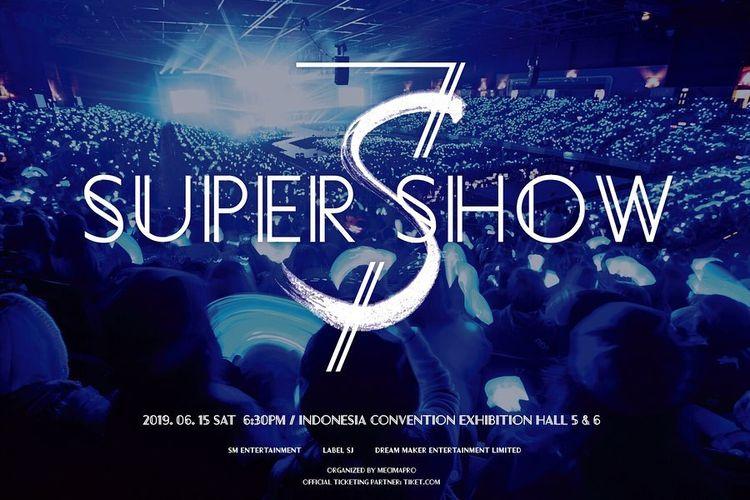 Poster konser Super Junior di Indonesia.