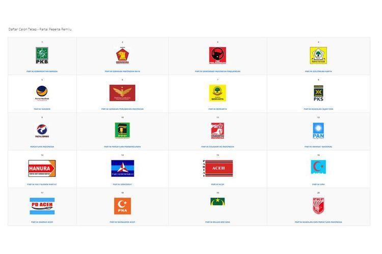 Daftar caleg tetap di laman KPU