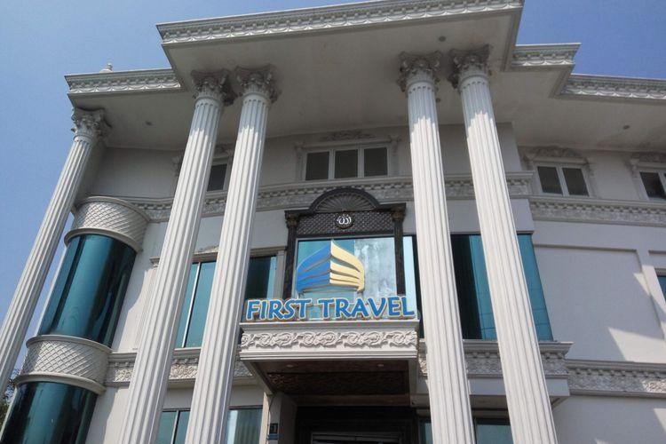 Kantor First Travel Depok, Jawa Barat pada Sabtu (22/7/2017).