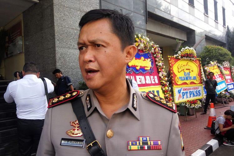 Kapolres Metro Jakarta Selatan Kombes Iwan Kurniawan di Mapolda Metro Jaya, Rabu (6/12/2017).