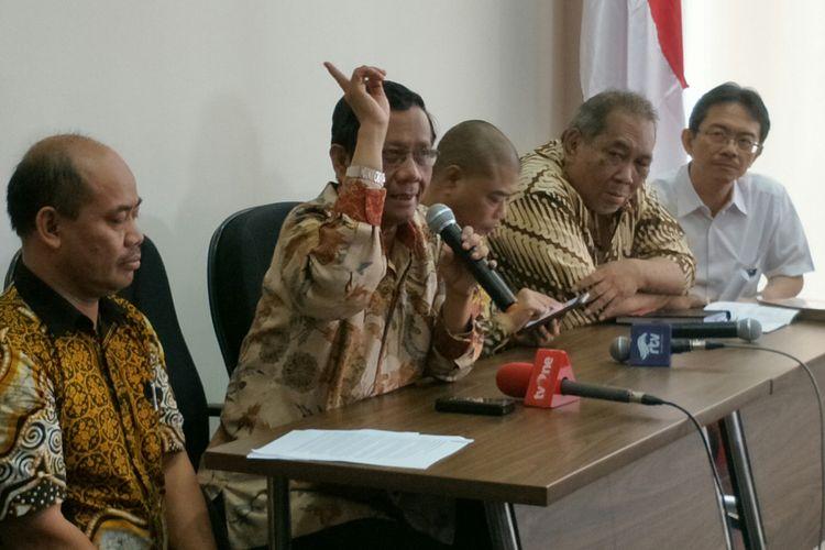 Anggota Dewan Pengarah BPIP Mahfud MD ketika ditemui di Kantor BPIP, Jakarta, Kamis (31/5/2018).