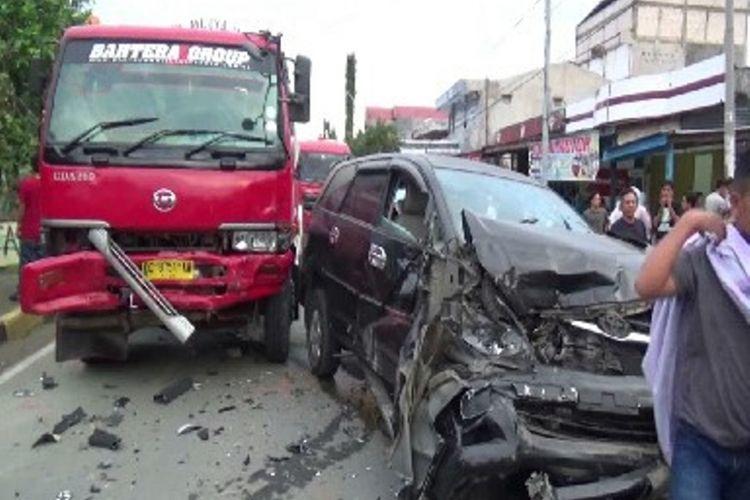 Ilustrasi kecelakaan lalu lintas.