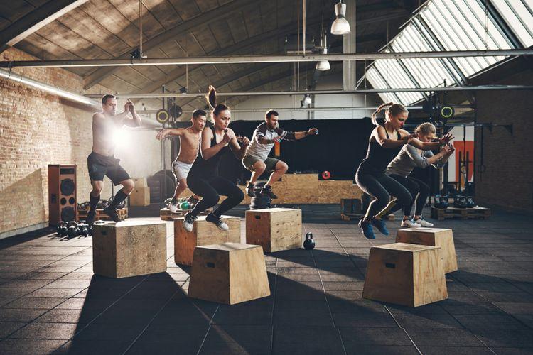 Ilustrasi olahraga melompat