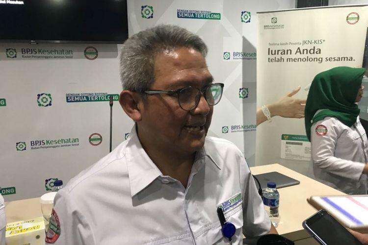 Deputi Direksi Bidang Jaminan Pelayanan Kesehatan Rujukan, BPJS Kesehatan, Budi Mohamad Arif saat diwawancarai di kantornya, Jakarta, Senin (30/7/2018).