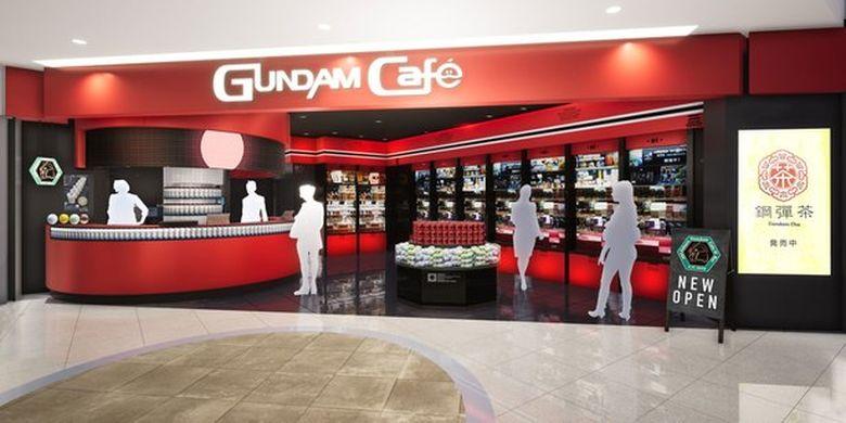 Gundam Cafe di Fukuoka, Jepang.