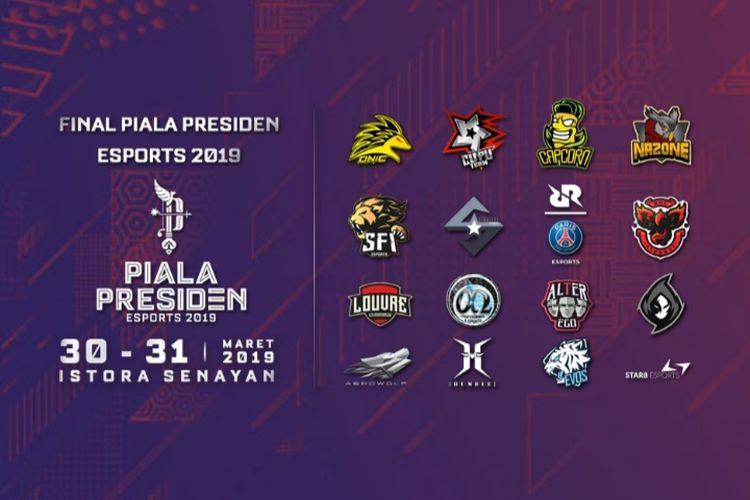 Babak final kejuaraan e-sports Piala Presiden 2019 yang akan digelar di Istora Senayan, Jakarta, 30-31 Maret 2019