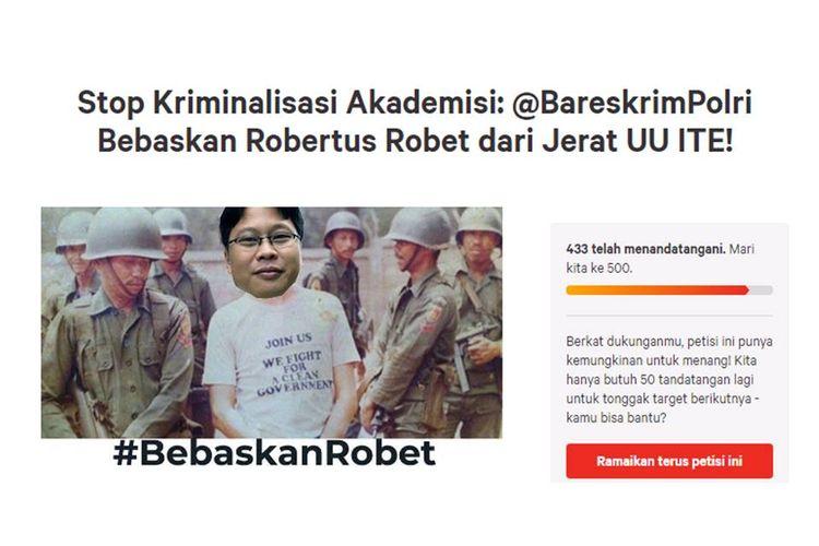 Petisi online di www.change.org