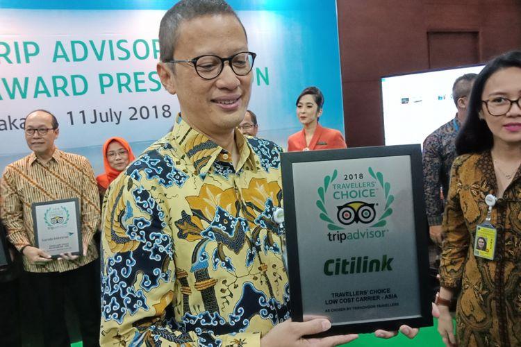 Garuda Indonesia dan Citilink mendapat penghargaan.