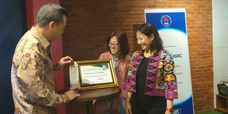Para pembicara dalam pemaparan hasil survei HSBC The Value of Education di Jakarta (25/9/2018)