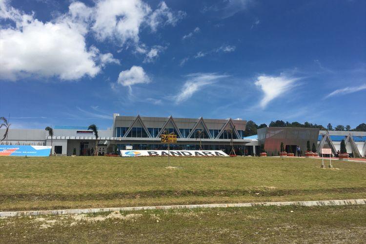 Bandara Silangit resmi menjadi bandara internasional, Silangit, Tapanuli Utara, Sumatera Utara, Sabtu (28/10/2017).