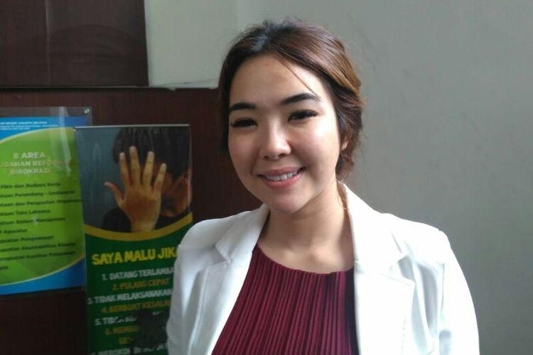 Penyanyi Gisella Anastasia menghadiri sidang perceraian dirinya dengan Gading Marten di Pengadilan Negeri Jakarta Selatan, Ampera, Cilandak, Rabu (12/12/2018).