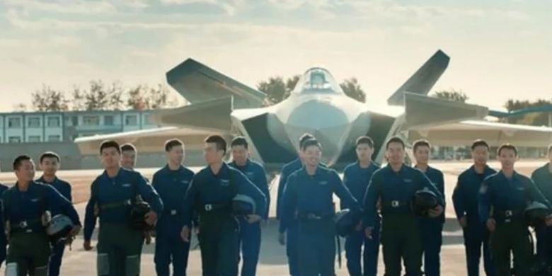 Para pilot Angkatan Udara Tentara Pembebasan Rakyat (PLA) China dalam video kampanye perekrutan yang dirilis pekan lalu.