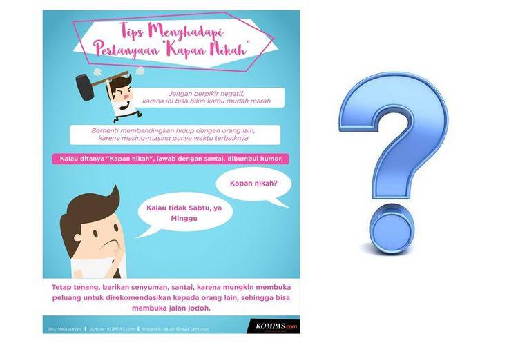 Infografik Tips Menghadapi Pertanyaan Kapan Nikah