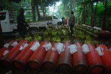 Lokasi Pengoplosan Gas di Bogor Digerebek, Ratusan Tabung Diamankan