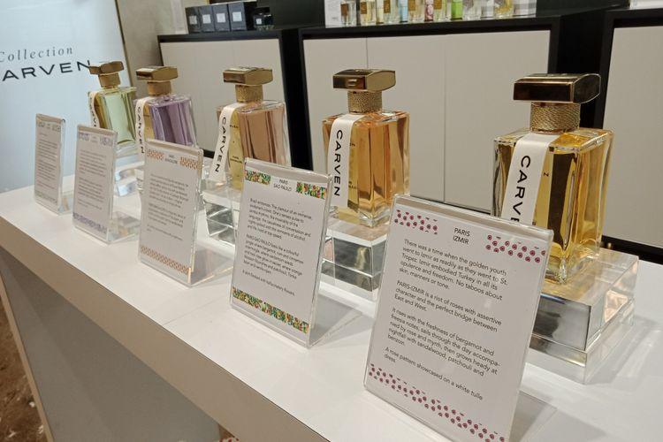 Tujuh parfum terbaeu Carven yang diluncurkan pada Selasa (10/7/2018).